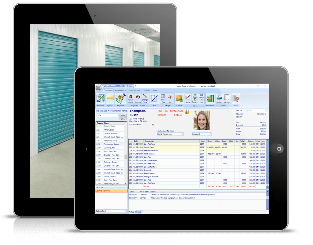 Onsite software occupant ledger